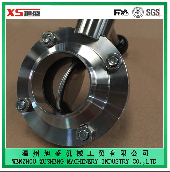 Food Grade Stainless Steel Ss304 Sanitary Manual Weld Butterfly Valves