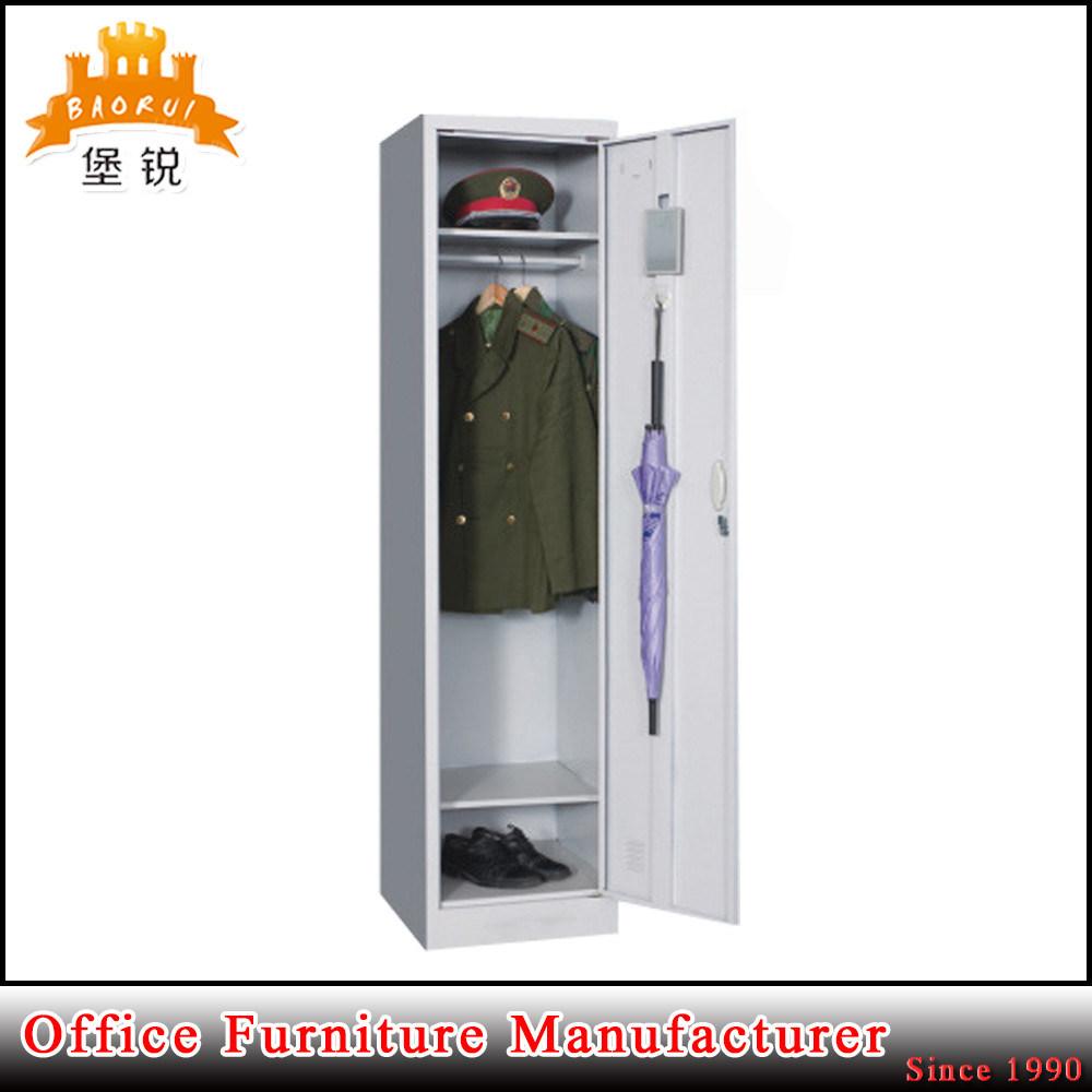 Office Furniture Steel Single One Door Storage Clothes Wardrobe Locker Cabinet