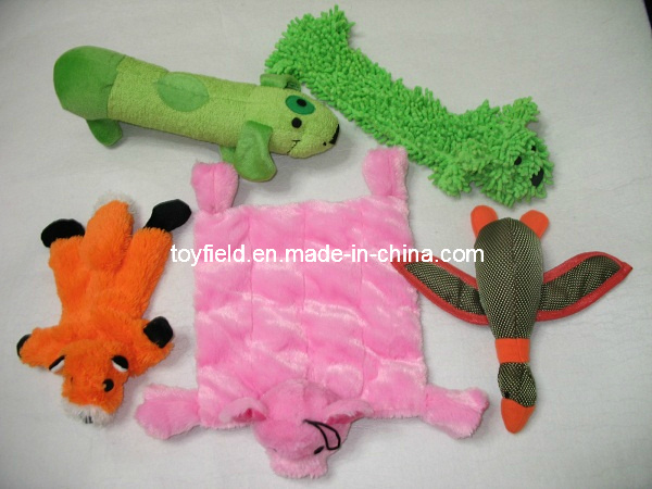 Pet Toy Plush Tug Chew Bite Squeaker Dog Toy