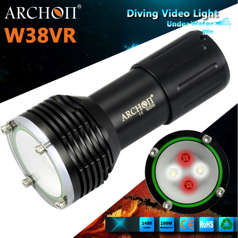 Archon W38vr Underwater Photographing Light Max 1400 Lumens Diving Video Light