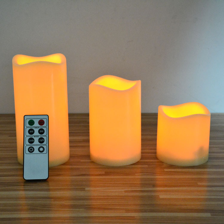 Electronic Flameless Moving Wick LED Candle with Timer