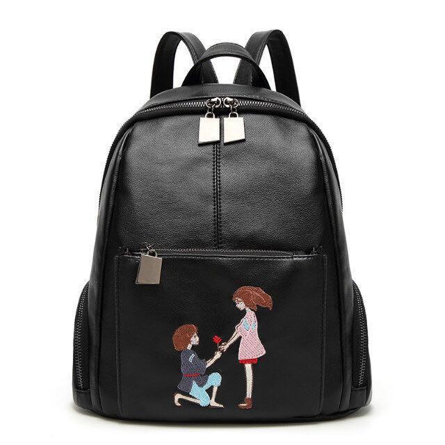 Fashion Women Backpacks Handbags Leisure PU Leather Ladies