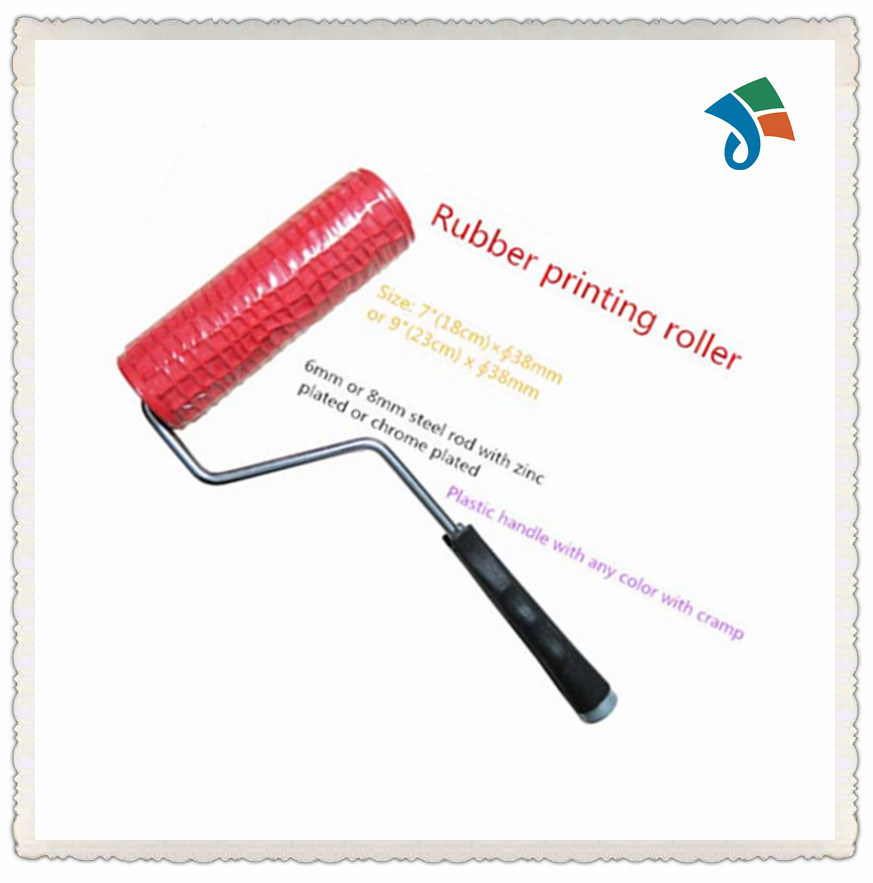 "Decorating 7"" Rubber Pattern Paint Roller"