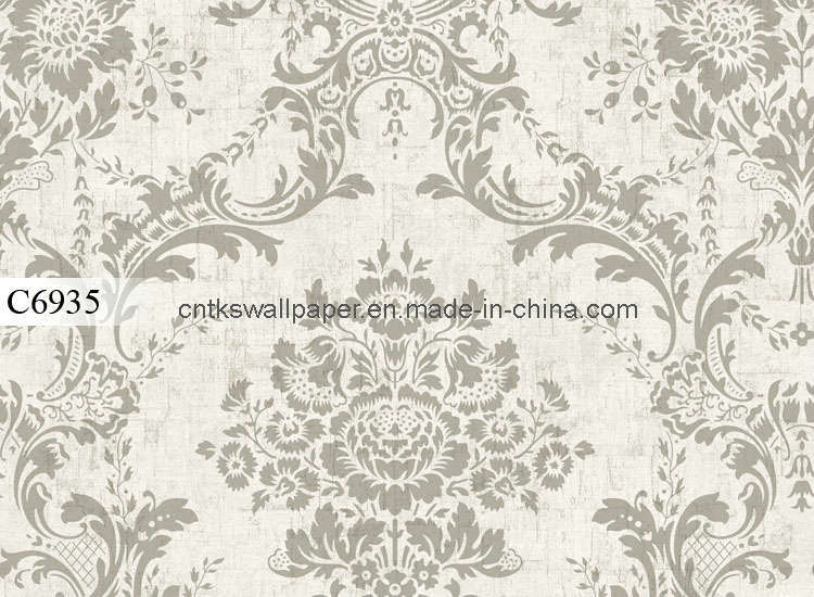 Wall Paper Decoration Design : China europe flower design paper for wall decoration