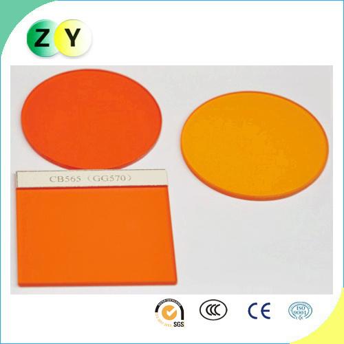 Optical Glass, Orange Filter, IR Pass, CB565