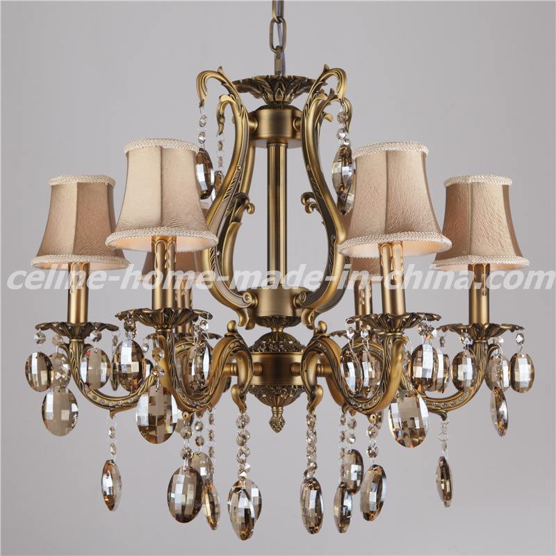 Zinc Crystal Chandelier with Fabric Shade (SL2116-6)