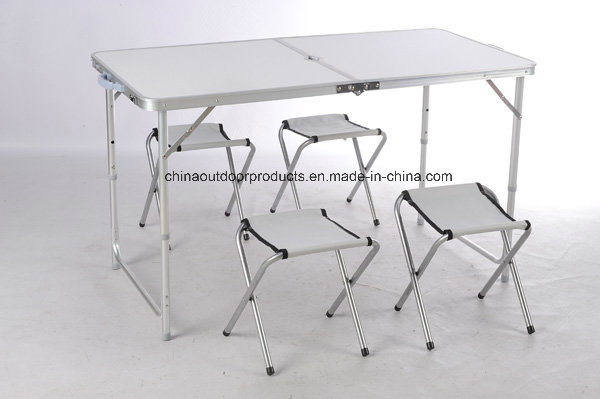 Aluminum Outdoor Folding Camping Table with Chair