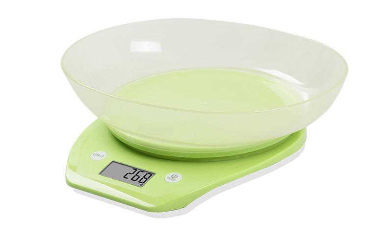 Transparent Bowl Electronic Kitchen Scale (BK716)