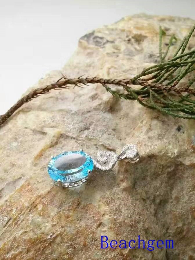 Jewelry-Topaz Sterling Silver Pendant (P0281)
