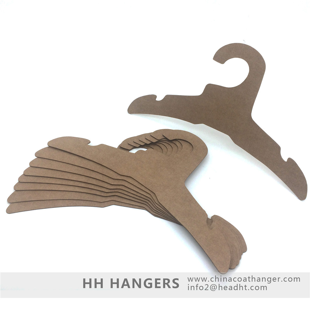 Strong Recycled Cardboard Clothes Hangers Paper Eco Friendly Fsc Hanger