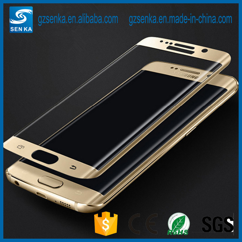 3D Full Cover Silk Print Tempered Glass Screen Protector Guard for Samsung S7 Edge