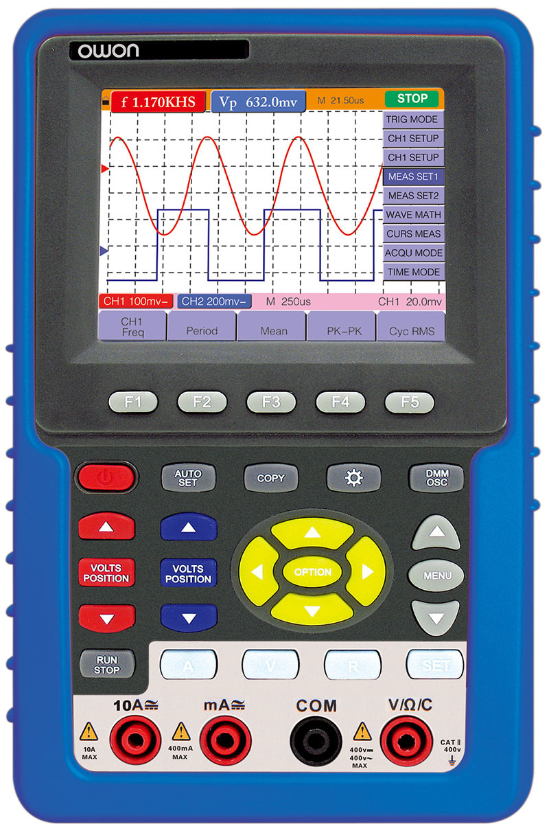 OWON 20MHz Isolated-Channel Handheld Portable Digital Oscilloscope (HDS1022I)