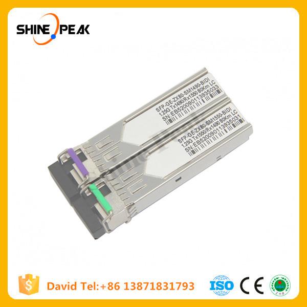 Optical Converter 10g SFP Bidi Module 80km Fiber Transceiver