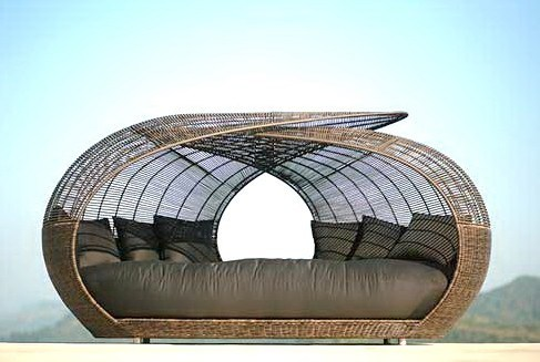 China Outdoor Rattan Lounge Bed Yt Df 164 1 China Rattan Sun Bed Leisure Sun Bed