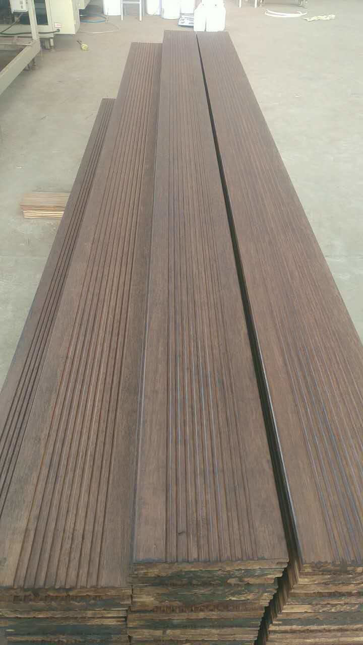 Solid Strand Woven Bamboo Outdoor Balcony Flooring