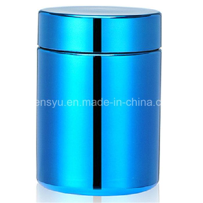 8oz/250ml Blue Chromed/ Metallized HDPE Pill Plastic Bottle