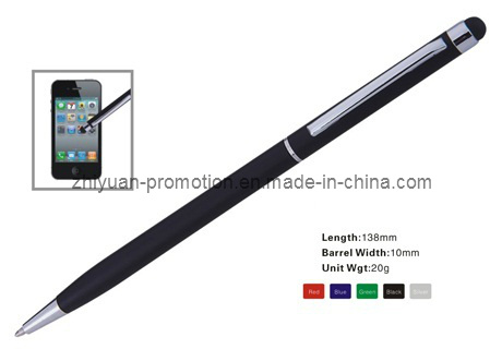 Slim Hotel Promotional Stylus Ball Pen Y094