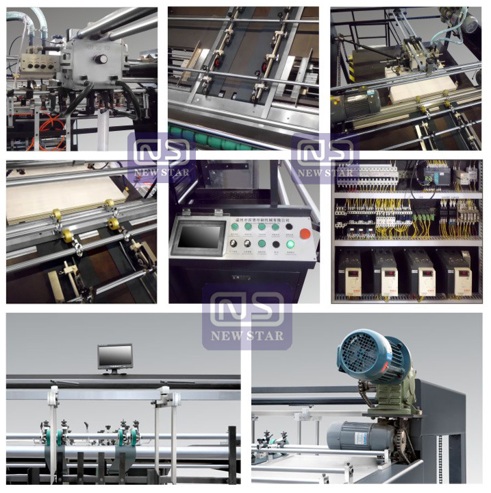 Gfmz-1100/1300/1450 Automatic Flute Laminating Machine