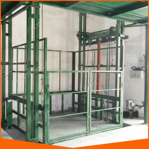 Hydraulic Manlift with Guid Rail for Second Layer