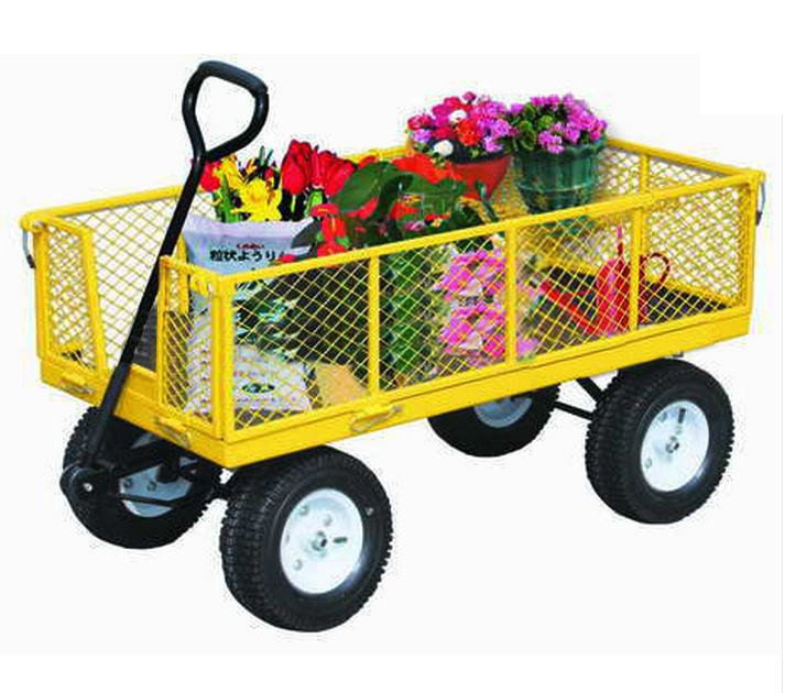 Factory Outlets Center Beach Cart Steel Mesh Garden Cart