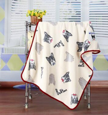 Embossed Cartoon Flannel Baby Blanket / Baby Throw