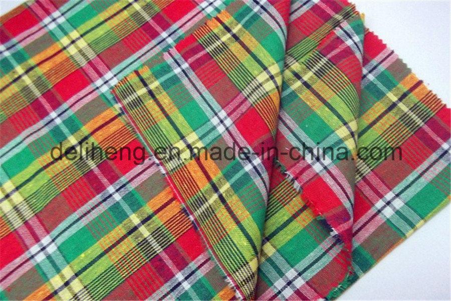 100% Cotton Yarn Dyed Check Design Shirt Fabric