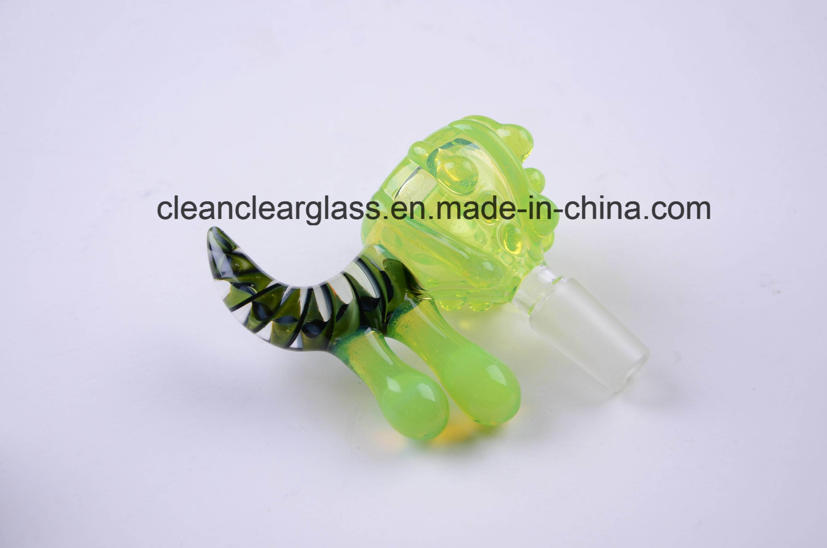 Hot Sale Hand Crafted USA Rods Glass Bowl with Male Joint