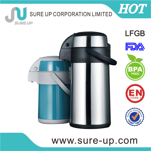 Hotel Thermos Tea Coffee Pot Double Wall Stainless Steel (ASUC)