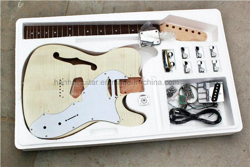 Hanhai Music / Tele Style String-Thru-Body Electric Guitar Kit / DIY Guitar