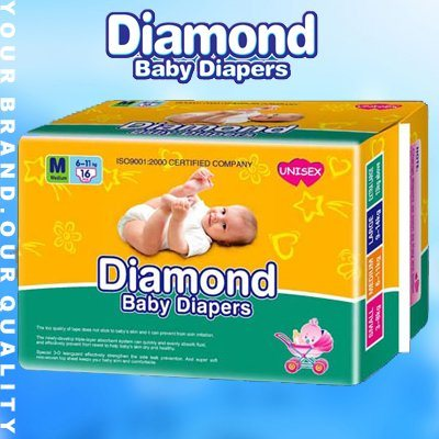 Diamond Ultra Thin Baby Diapers with 3D Leakguard (JHS007)