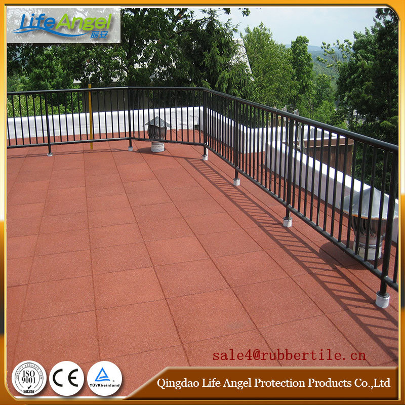 Playground Rubber Floor Tile, Square Rubber Tile