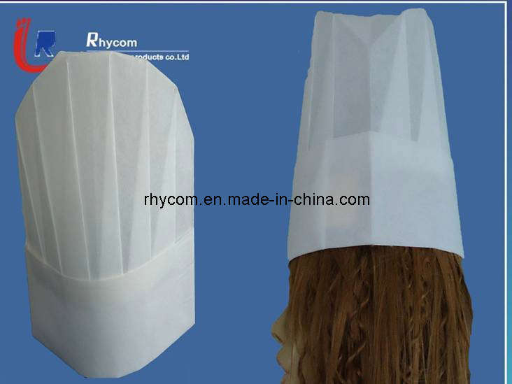 China chef paper hat china disposable cap bouffant cap for Paper chef hat craft