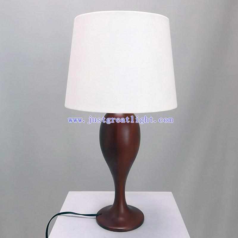 china wood carved table lamp with fabric shade for indoor decoration tl wc13. Black Bedroom Furniture Sets. Home Design Ideas