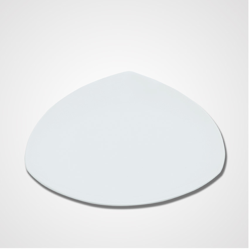 Low Price and High Quality Ceramic Restaurant Triangle Plates