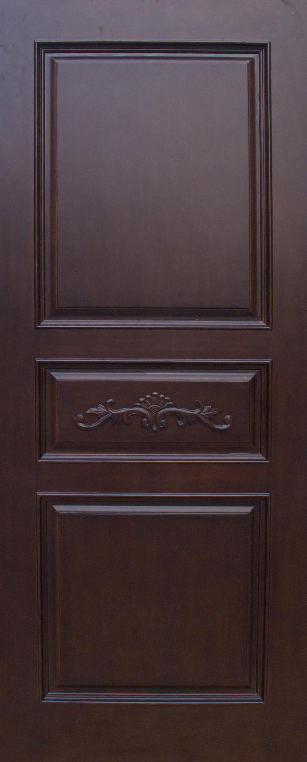 Carved Oak/ Mahogany Solid Wood Door