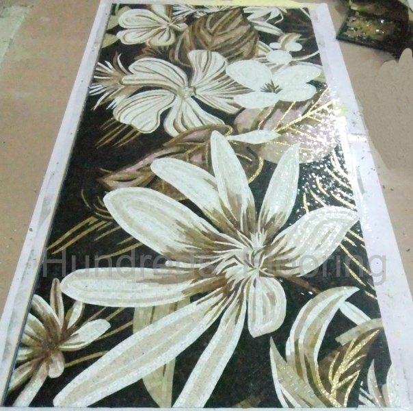 Artistic Picture Pattern Made of Mosaic Glass Tile (HMP685)