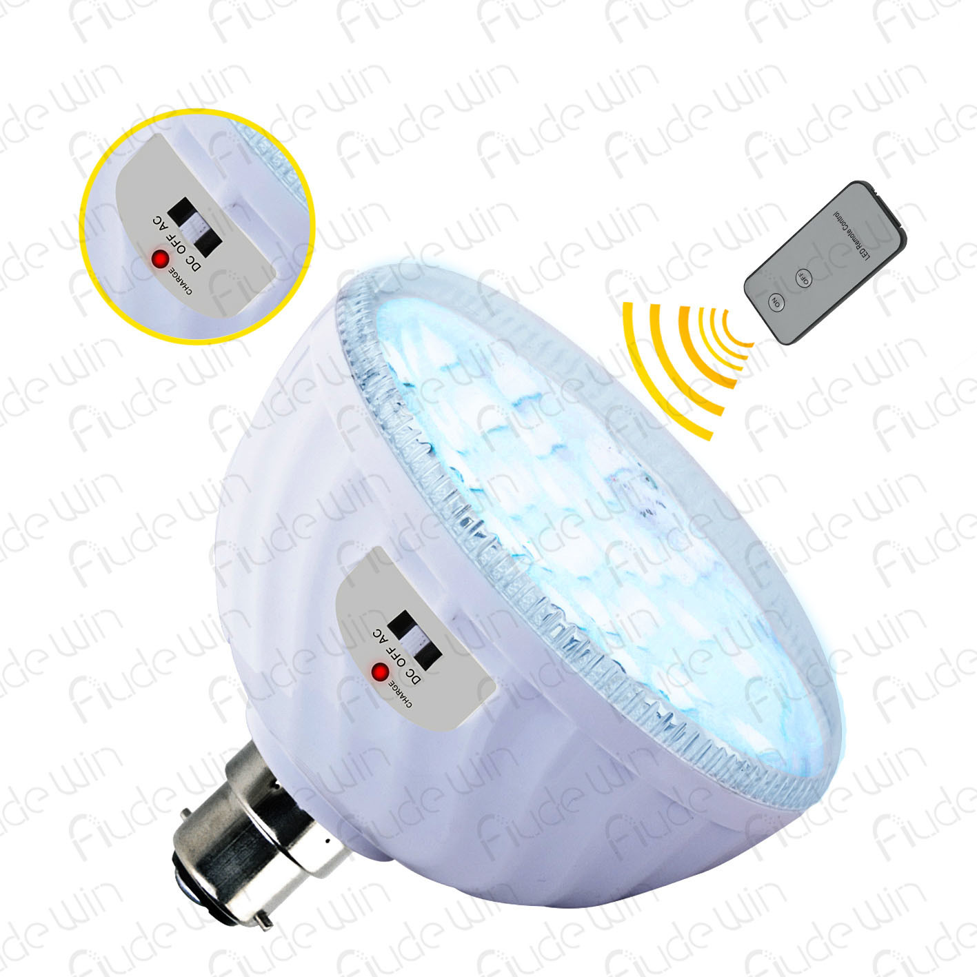 24 Amp 30 Led Rechargeable Bulb With Adapter And Remote