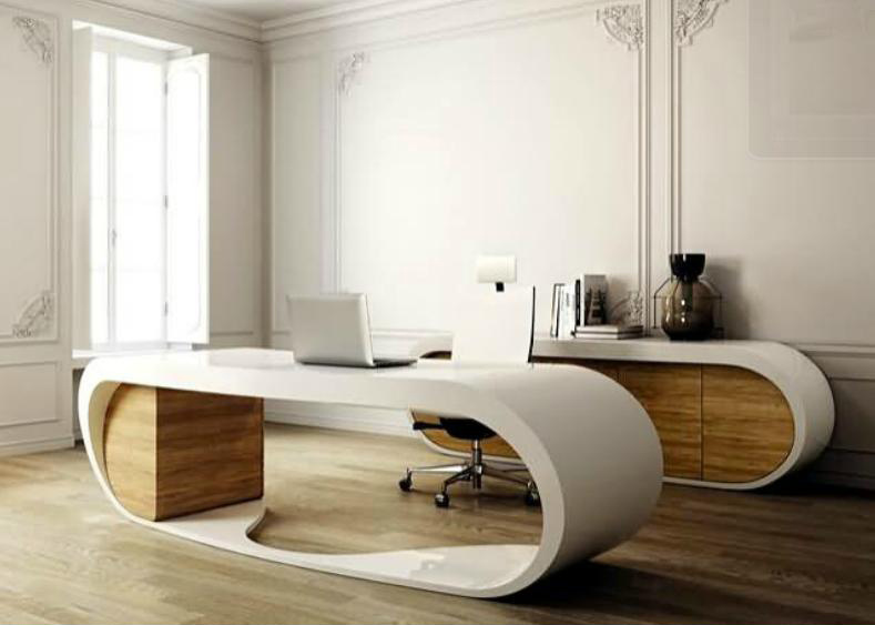 Oval Stylish Acrylic Solid Surface Modern Design Office Furniture  (TW OFTB 0041)