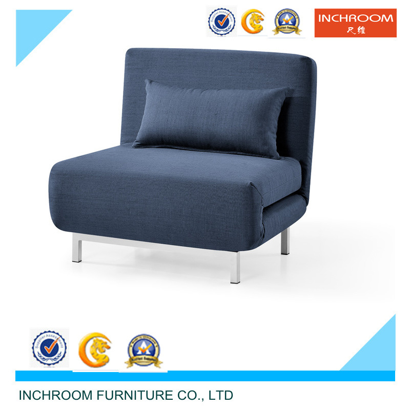 Modern Single Seat Fabric Folded Sofa Bed
