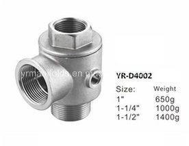 Five Way Check Valve, Connector Brass, Nickel Plated