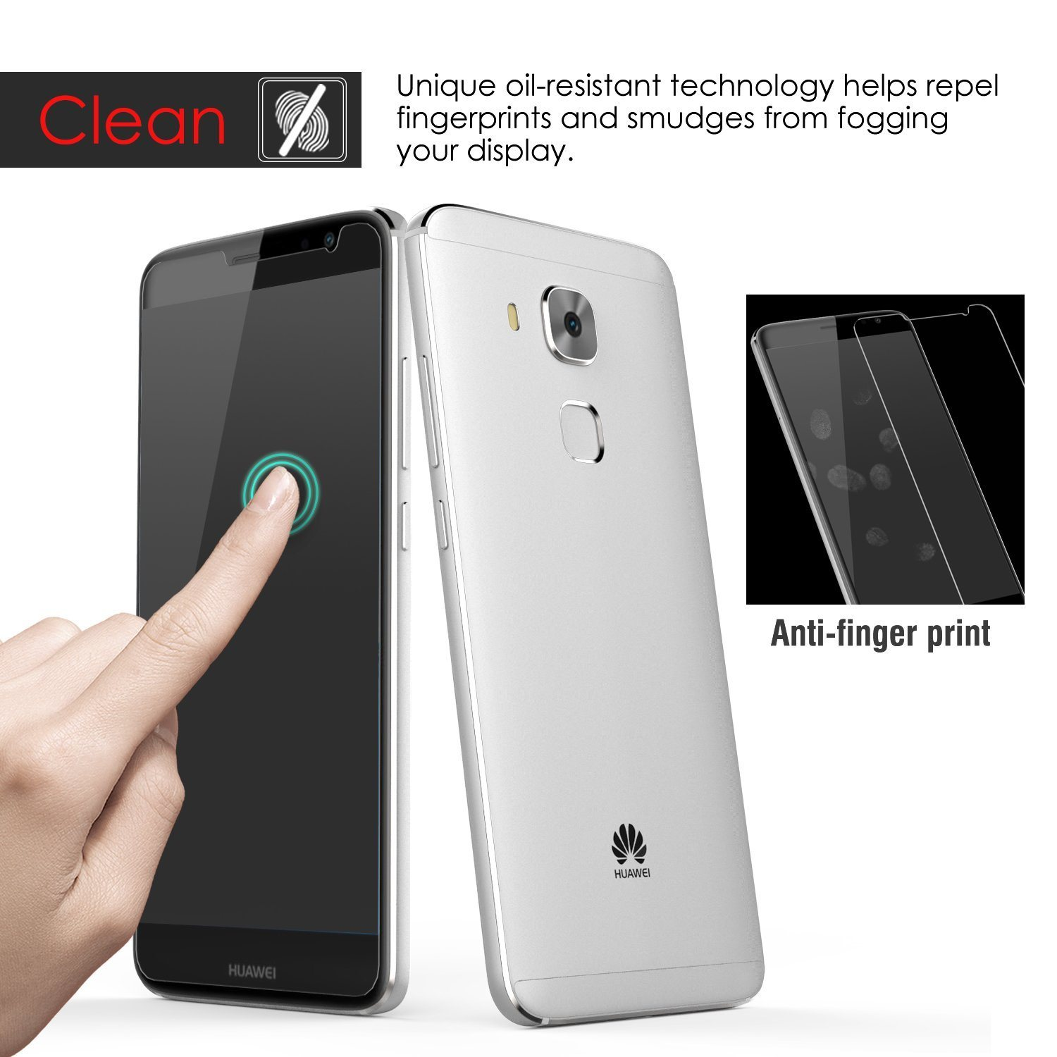 High Transparency 2.5D Clear Tempered Glass Screen Protector for Huawei Nova Plus, 0.33mm Huawei Mobile Phone Accessories