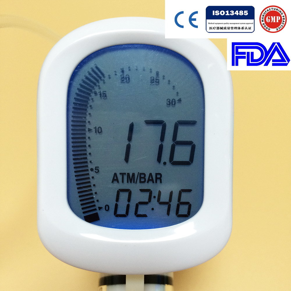 Medical Disposable Balloon Inflation Device with Digital Display for Ptca