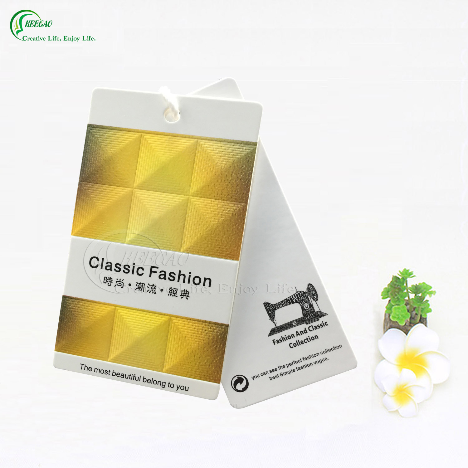 Custom Printing Paper Clothing Label (KG-PA010)