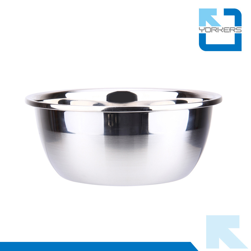 Multi-Size Thickened Stainless Steel Mixing Bowl Set Salad Bowl