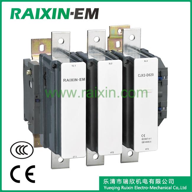 Raixin New Type Cjx2-D620 AC Contactor 3p AC-3 380V 335kw
