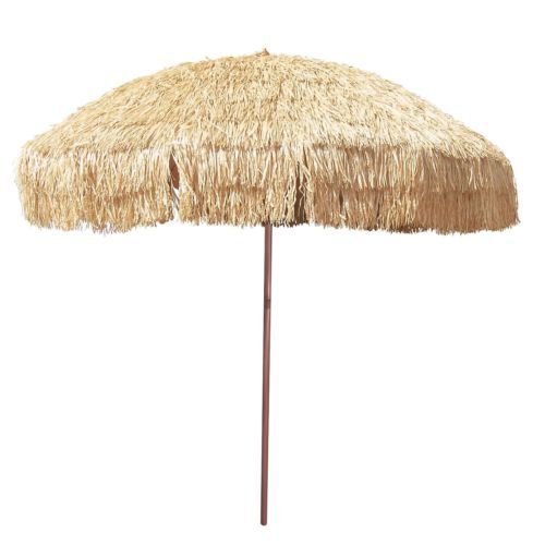 Patio Umbrella Thatch Hawaiian Vented Sunshade