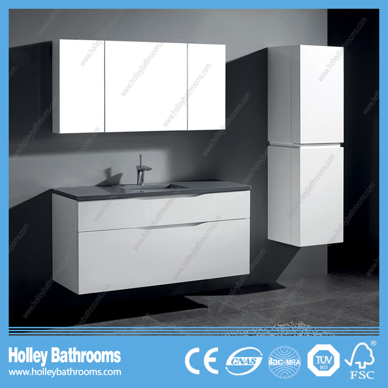 Modern European Bathroom Vanities with Mirror Cabinet and Side Unit (BF361D)