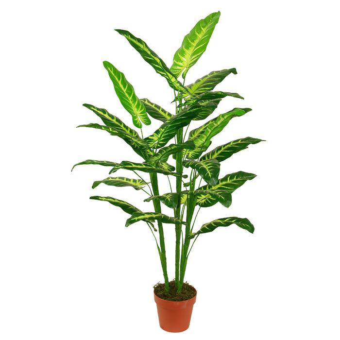 Green Leaves Artificial Plants of Dieffenbachia