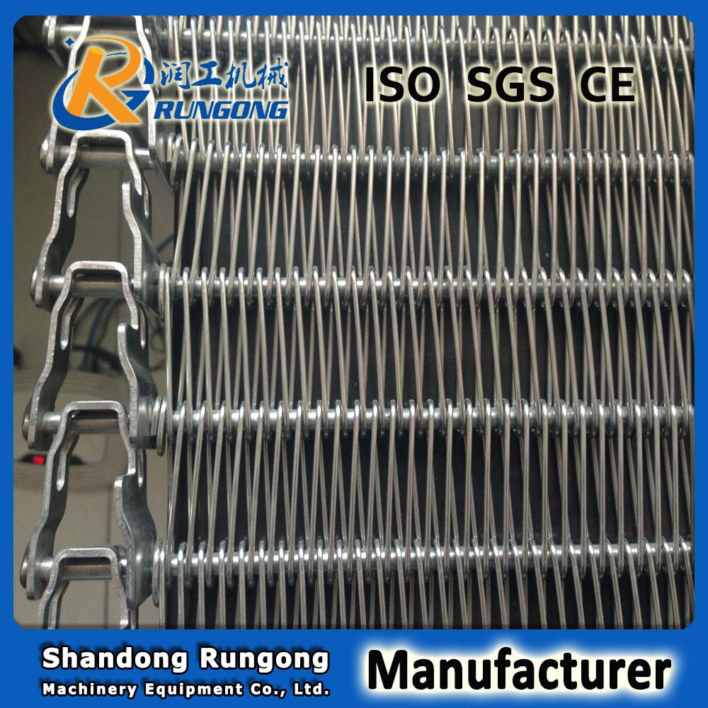 Flexible Rod Fast Freezer Conveyor Mesh Belt