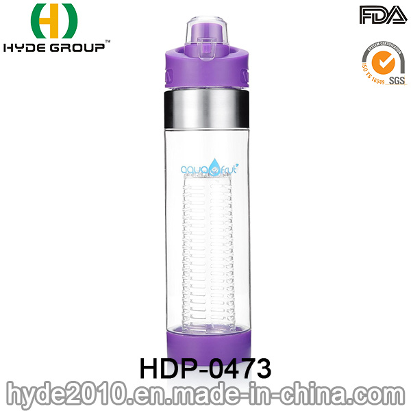 2017 Hot Sale BPA Free Tritan Fruit Infusion Bottle, Newly Plastic Fruit Infuser Water Bottle (HDP-0473)